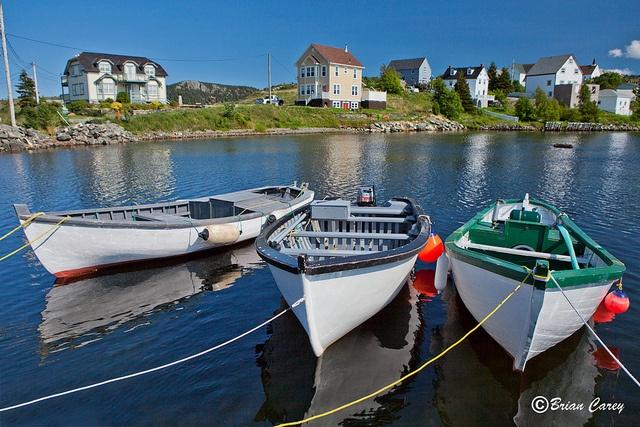 Boats tied up at Brigus, Newfoundland, Canada | by Brian Carey, via Flickr. #Canada #travel