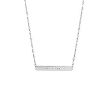 always and forever bar pendant