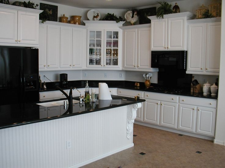 White Kitchen Cabinets With Black Countertops saveemail traditional kitchen Brilliant Kitchen Backsplash White Cabinets Black Countertop Home Sweet Home Regarding White Kitchen Cabinets With Black
