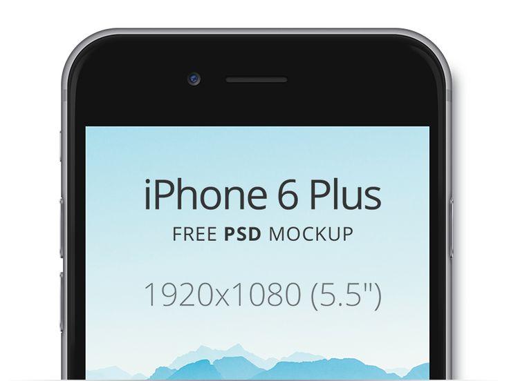 Mockup iPhone 6 Plus ( screen size 1920x1080px). Free PSD mockup.