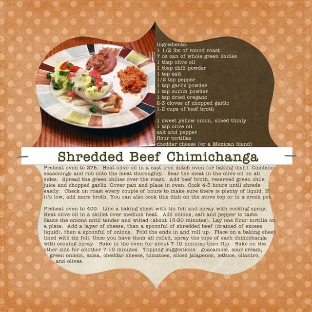 Recipes We Love: Shannon's Shredded Beef Chimichanga