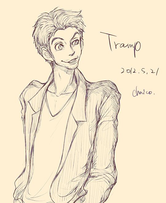 Disney animals as people - Tramp from Lady and the Tramp- Is it just me or is he cute?~Caption by Sophie