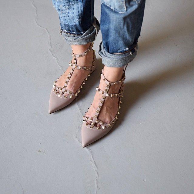 Valentino Rockstud ballerina shoes tKJK6Fyi