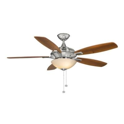 Hampton Bay Springview 52 in. Brushed Nickel Ceiling Fan-14922 at The Home Depot - Jack's room/guest room - $109