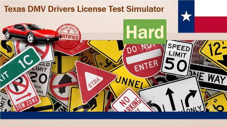 Driving license test: Texas DMV Drivers License Test Simulator (Hard)