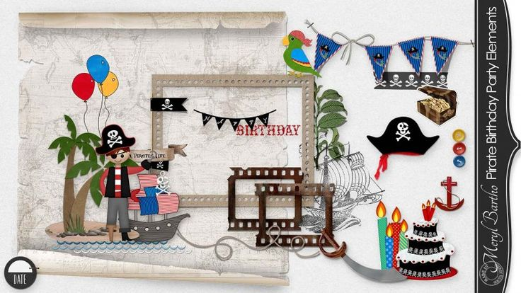 Pirate Birthday Party Embellishments