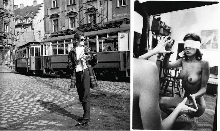 Po lewej Agnieszka sfotografowana przez Rolkego w Wałbrzychu. Po prawej zdjęcie zatytułowane ''Beatrycze'' (fot. archiwum prywatne)