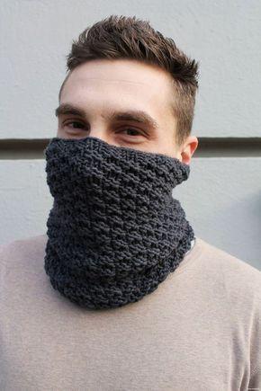 Männerloop: Strickanleitung für einen Boyfriend-Loop | Stricken ...