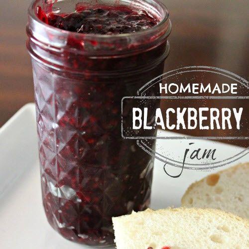 Homemade Blackberry Jam   http://diygiftworld.com/homemade-blackberry-jam/