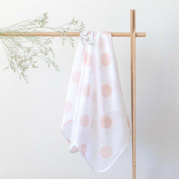 Muslin Baby Wrap | 'Salmon Spot'