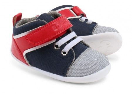 Bobux Step Up Beat Red Navy Shoes - Bobux - Little Wanderers