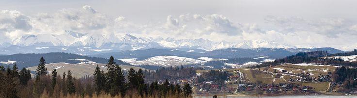 Panorama Tatr,okolice jeziora czorsztyńskiego