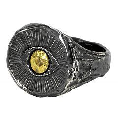 Gold Eye ring in sterling silver and gold - $320 http://www.lordcoconut.com/shop/gold-eye-ring/