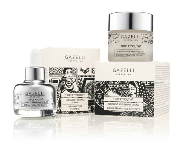 Azerbaijan Gazelli Cosmetics packaging