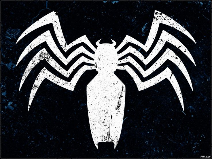 Venom white black background super hero bday pinterest - Black and white spiderman wallpaper ...