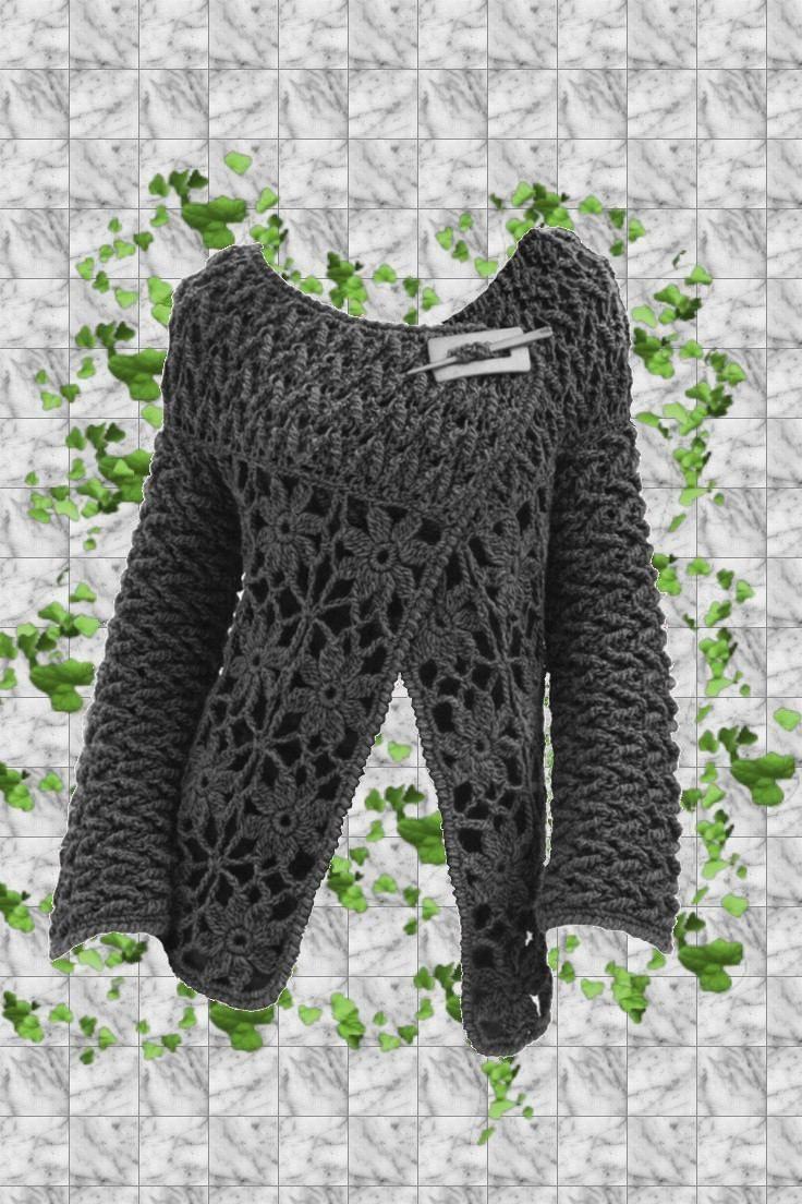 Saco - Campera Tejido Crochet Otoño - Invierno - $ 500,00 en MercadoLibre