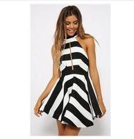 2015 горячая распродажа мода женщин сексуальное платье спинки волна полосы ну вечеринку клуб мини платье бесплатная доставка