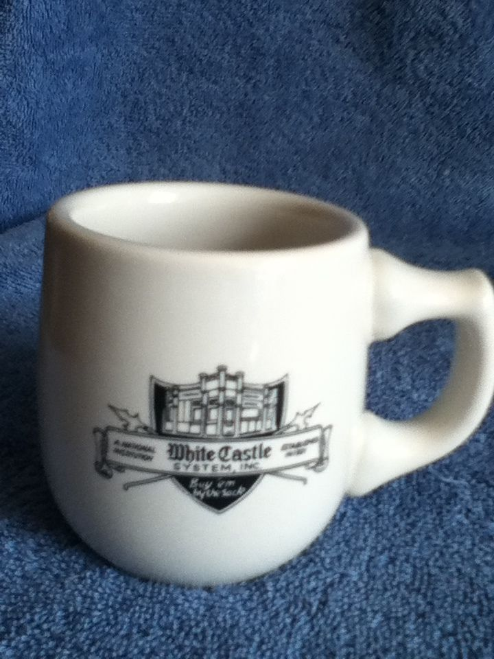 Vintage White Castle Original Ceramic Coffee Mug Cup With