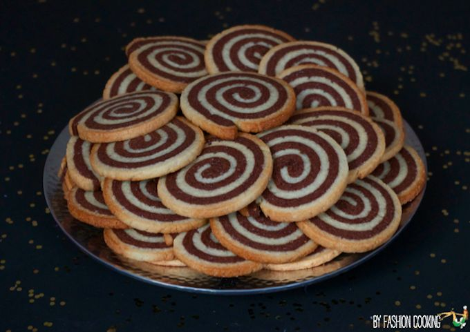 biscuits spirale Calendrier de l'Avent des cadeaux gourmands 21 déc – Sablés spirale vanille chocolat