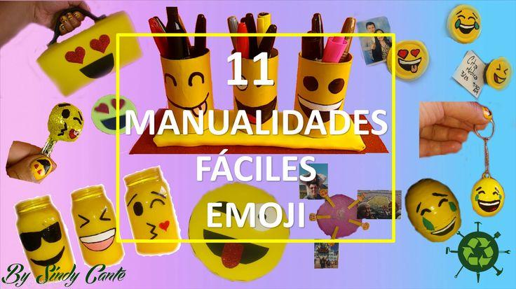 11 manualidades emoji Fáciles con reciclaje.  Para vel el vídeo completo: https://youtu.be/ky0kDtOMCiM