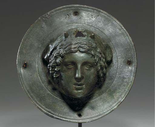 Roman bronze shield boss, 1st century A.D.