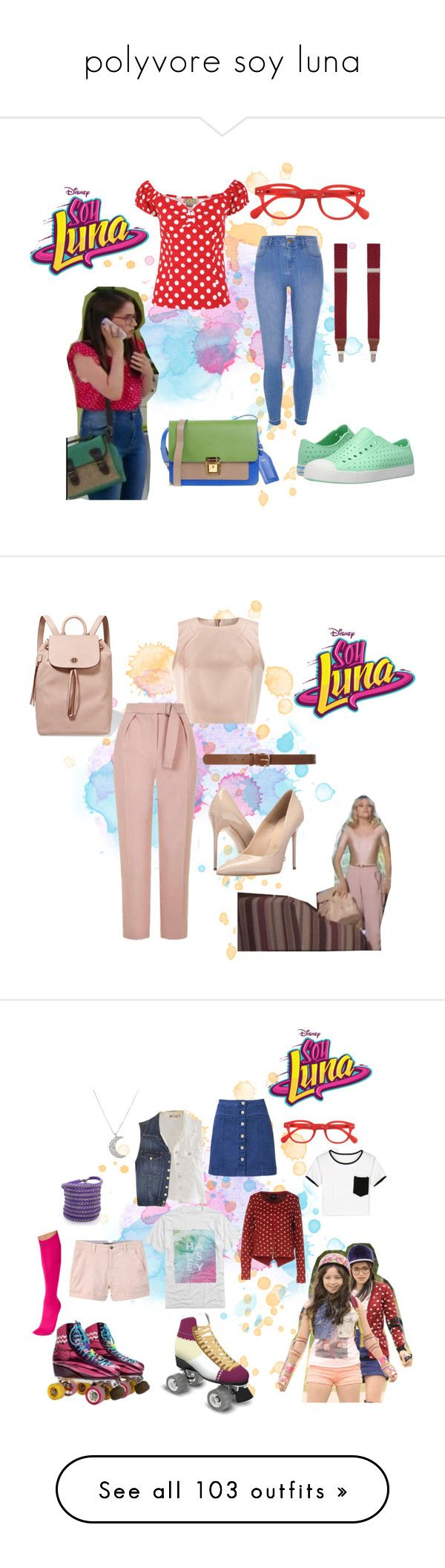 """polyvore soy luna"" by maria-look on Polyvore featuring See Concept, Native Shoes, Saddlebred, Erika Cavallini Semi-Couture, River Island, Jacques Vert, Tory Burch, Topshop, Dorothy Perkins and Massimo Matteo"