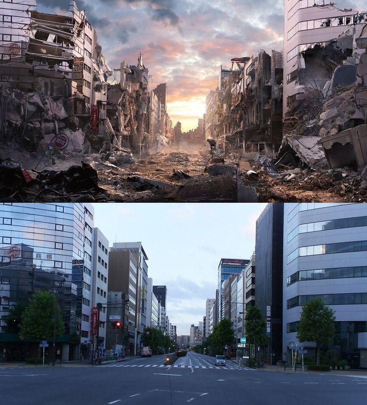 Tokyo | matte paint anime by Jacek Irzykowski | Matte Painting | 2D | CGSociety