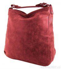 Velká kabelka z broušené kůže TH2015 červená