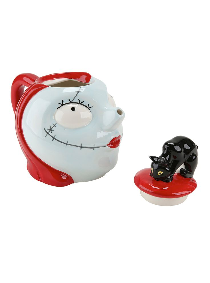 The Nightmare Before Christmas Sally & Black Cat Teapot,