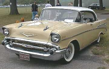57' Chevy Bel Air yellow...first car I ever rode in.