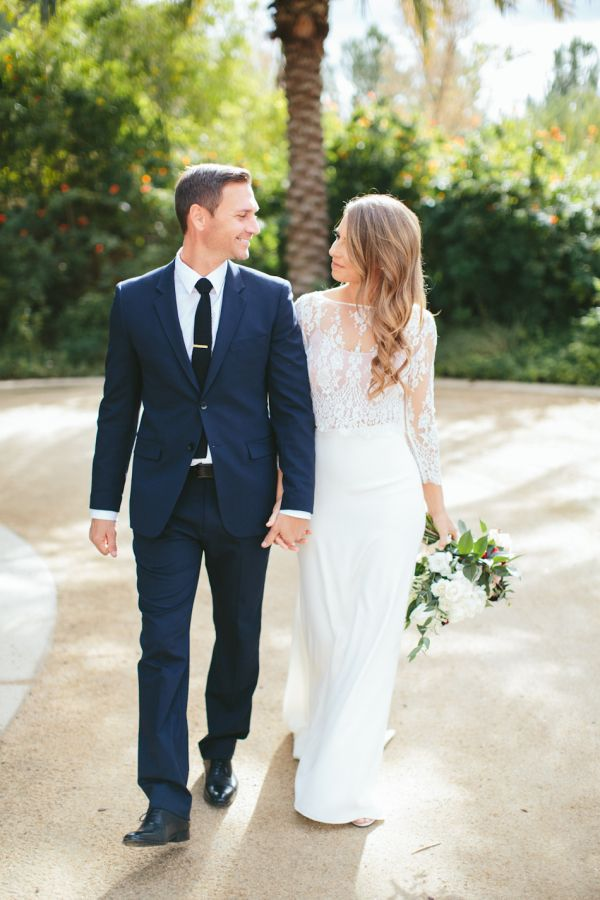 Stylish groom in navy blue: http://www.stylemepretty.com/2016/04/25/navy-is-the-new-black-why-grooms-should-wear-color/