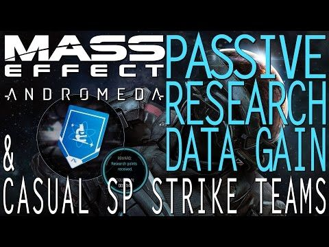Mass Effect Andromeda: GAIN PASSIVE RESEARCH DATA & CASUAL SINGLEPLAYER STRIKE TEAMS - http://freetoplaymmorpgs.com/mass-effect-andromeda/mass-effect-andromeda-gain-passive-research-data-casual-singleplayer-strike-teams