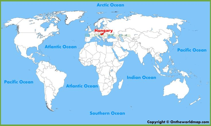 This is where Hungary is Located on a map