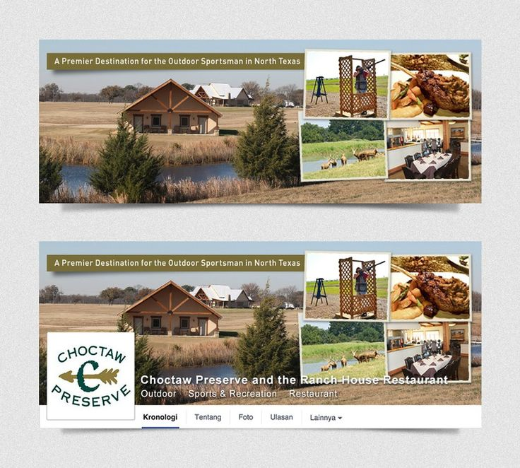 Create a Facebook cover photo for the Choctaw Preserve by TrueFocus