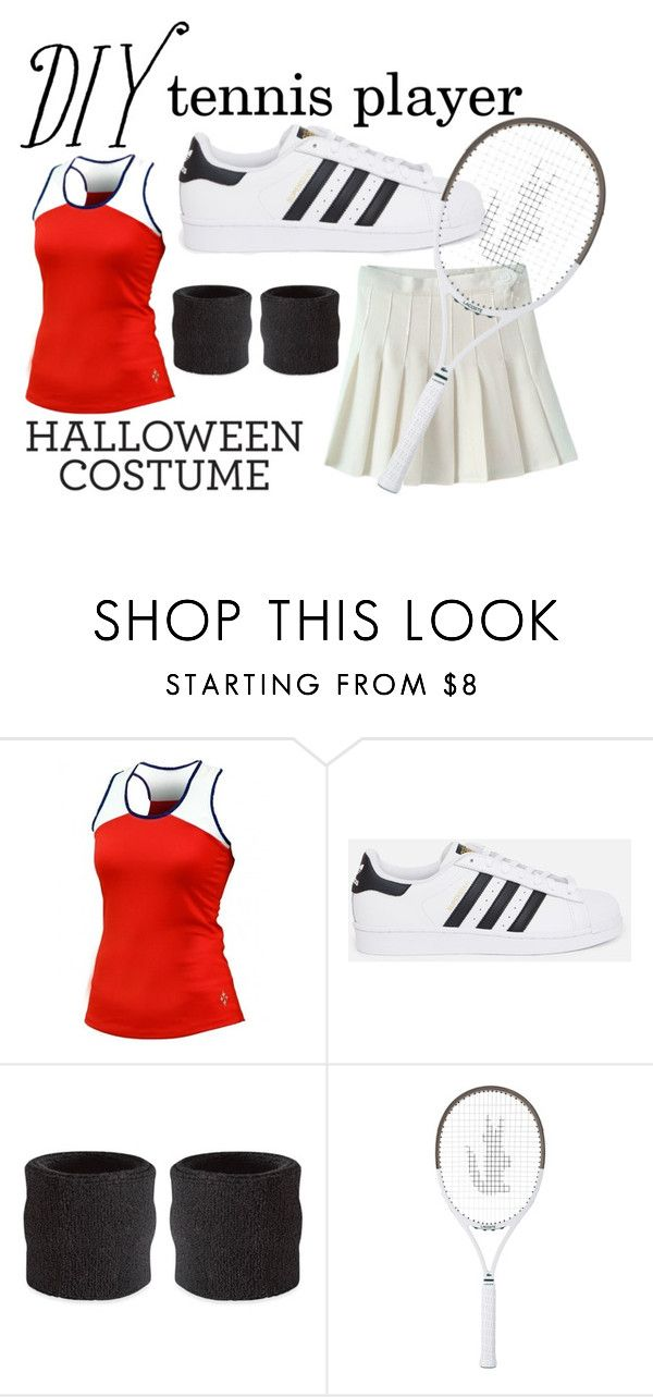 """DIY Halloween Costume - tennis player ♥"" by jovanaa-bogdanovic ❤ liked on Polyvore featuring мода, Jofit, adidas Originals, CO и Lacoste"