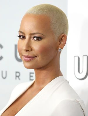 amber rose looks shockingly different with long hair