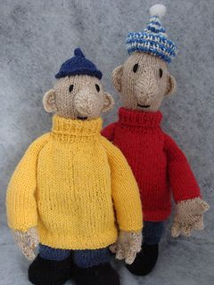Buurman en Buurman Breipatroon/ Pat and Mat Knitting pattern by Elise wesselo