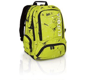 Plecak Euforia jest w różnych wariantach kolorystycznych- m.in soczystej limonce.