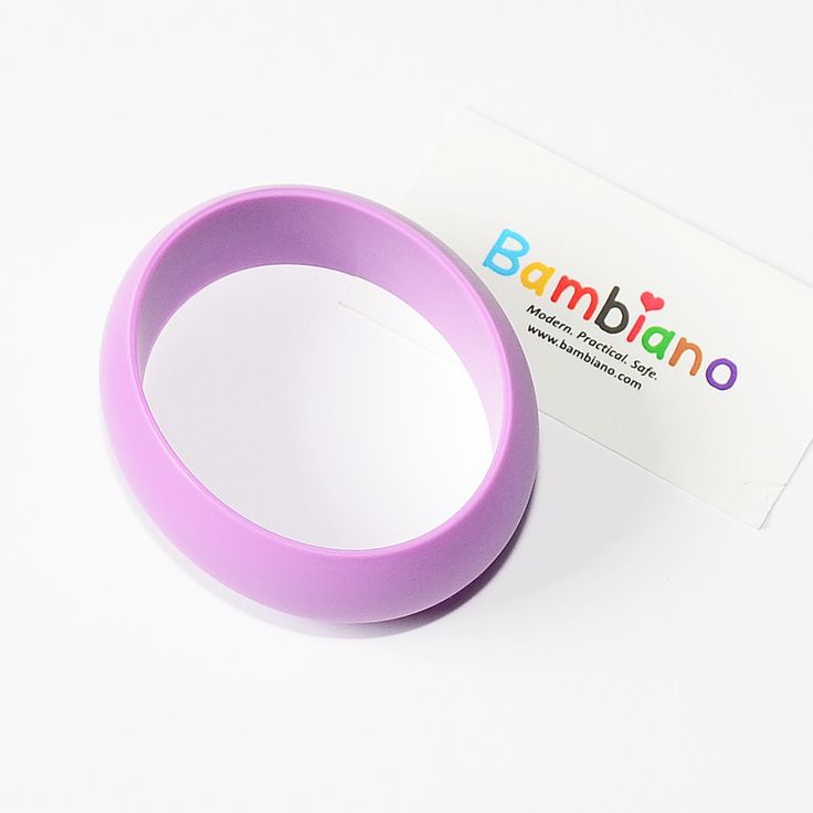 Bambiano Hoola Bangle in Purple  Bambiano Bangles are made of 100% Food grade silicone. BPA free, Lead free and nontoxic. Fashionable for Mums and safe for teething babies to chew on. Bracelets are washable and soft on baby's gums.   Shop at www.bambiano.com