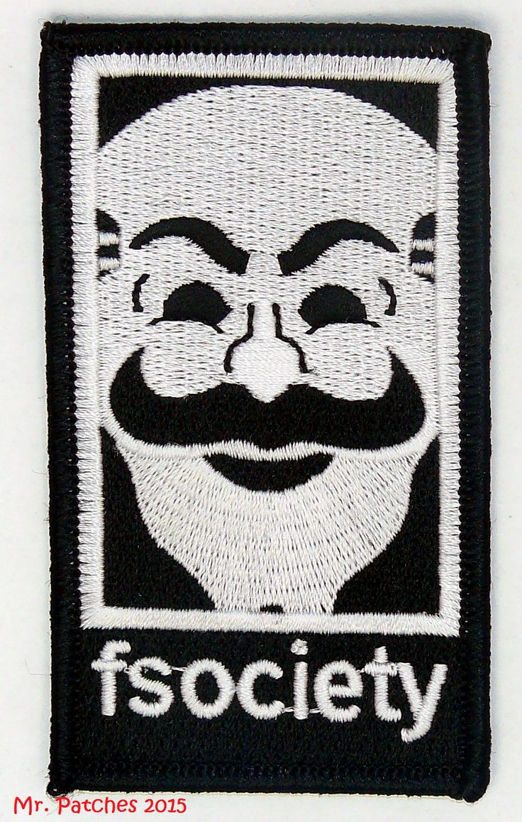 FSOCIETY MR ROBOT TV SHOW HIGH QUALITY PATCH IRON/SEW ON