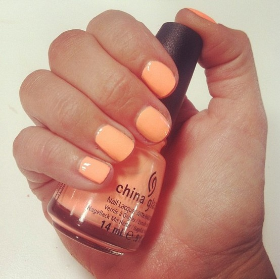 """""""Sun of a Peach"""" from China Glaze's Sunsational Collection #summer #2013 #manicure #beauty #nails  instagram.com/kirbiej"""