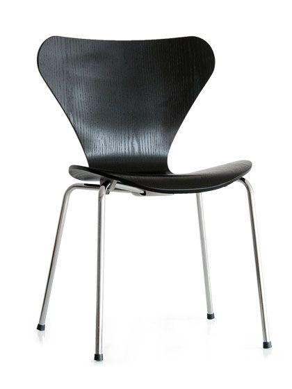 エア・リゾーム インテリア / ダイニングチェア デザイナーズ チェア アルネ・ヤコブセン代表作的チェア SEVEN CHAIR 〔セブンチェア〕 ブラック ホワイト レッド
