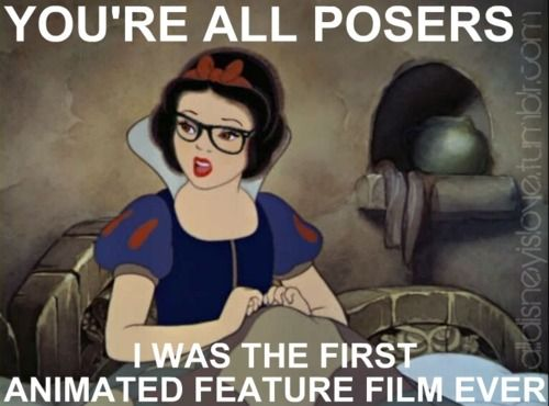 Hipster Disney. And yes, Snow White was the first.