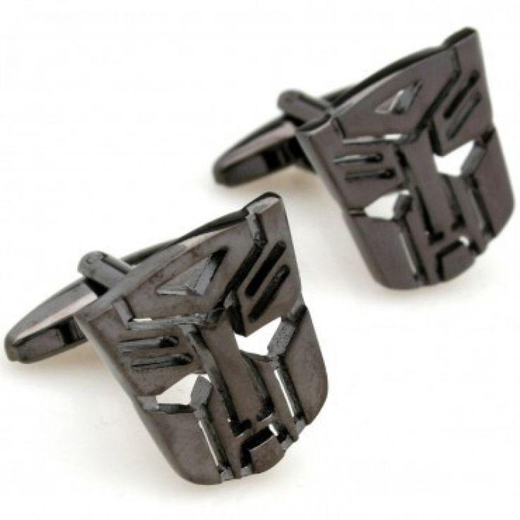 #Robot face - black #Cufflinks #cufflinkspalace