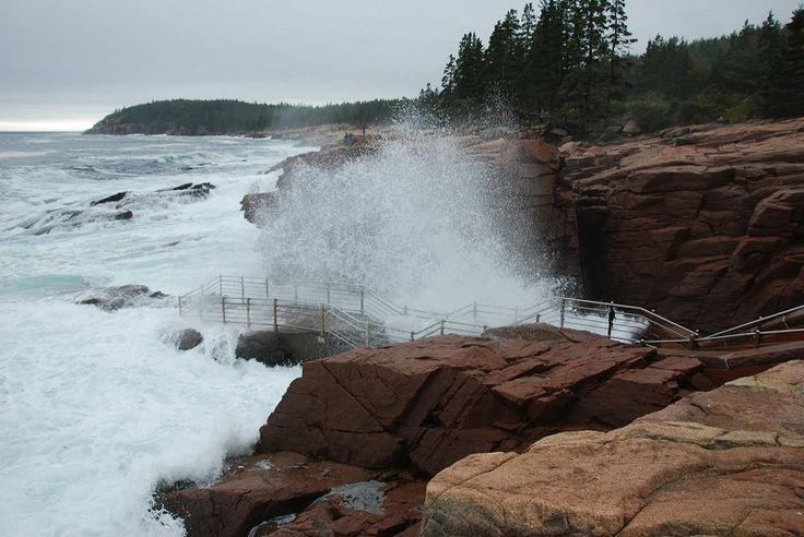 Thunder Hole - Bar Harbour, Maine. Jason laughed at me so hard for wanting to see this, but we loved it!
