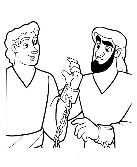 bible coloring pages about acts 16 | Acts 16:16-40 Children's Sunday School lesson, activities ...
