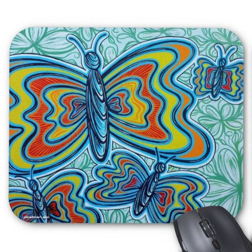 Colourful Butterflies Mousepad