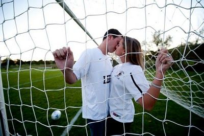 kissing by the goal