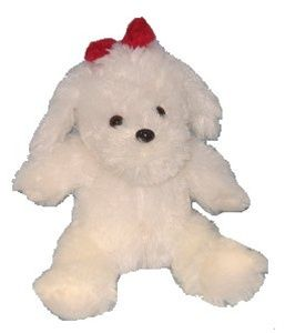 White Soft Dog Stuff Your Own Plush Toy Kit.  Fun no-sew craft kit - suitable for all ages! Easy & enjoyable, just stuff your toy though its tummy button!   Great gift idea too. Perfect for parties or sleepovers. What you get:        1 x 35cm - 40cm unstuffed  White Soft Dog Stuff Your Own Plush Toy      Easy to follow assembly & care leaflet      Complimentary Party Kit 'n Kaboodle T-shirt for your Plush Toy      Satin Wishing Star      100% polyester Stuffing Kit