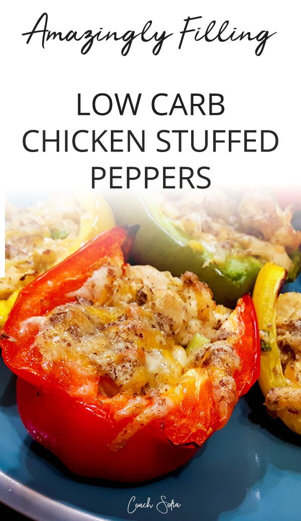 Low Carb Chicken Stuffed Peppers Recipe Stuffed Peppers Low Carb Chicken Recipes